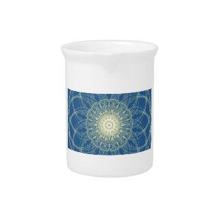 Abstrato floral abstrato floral jarro de bebida