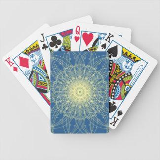 Abstrato floral abstrato floral baralho de cartas