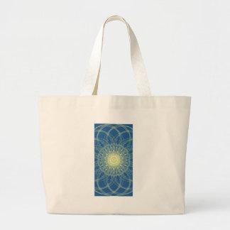 Abstrato floral abstrato floral bolsa de lona