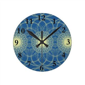 Abstrato floral abstrato floral relógio de parede