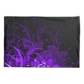 Abstrato floral acrílico roxo