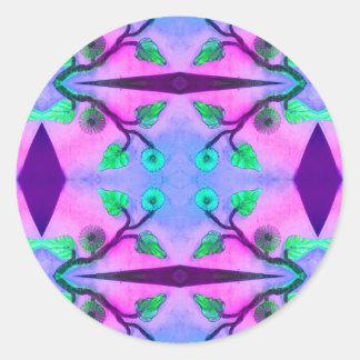 Abstrato floral adesivo