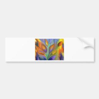Abstrato floral adesivo para carro
