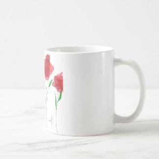 abstrato floral caneca de café