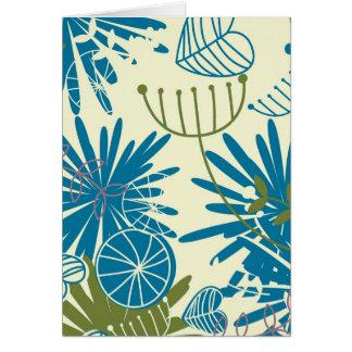 Abstrato floral cartão comemorativo