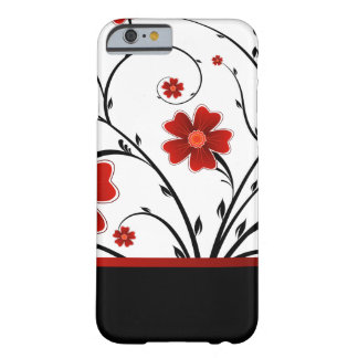 abstrato floral com bar preto capa barely there para iPhone 6