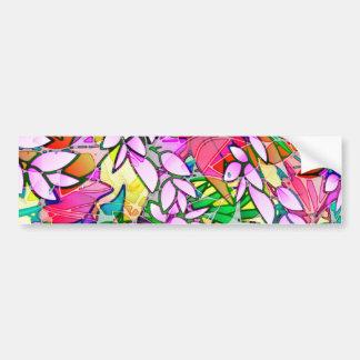Abstrato floral da arte do Grunge do autocolante n Adesivo Para Carro