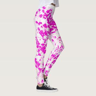 Abstrato floral leggings