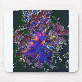 Abstrato floral verde mousepad
