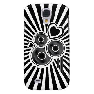 Abstrato Funky dos auto-falante & dos corações Galaxy S4 Covers