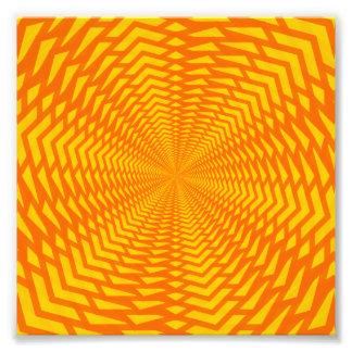 Abstrato geométrico Sun-Como o teste padrão Impressão De Foto