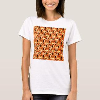 Abstrato legal do golden retriever do cachorrinho t-shirts