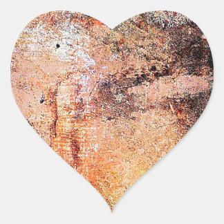 abstrato marrom oxidado do fumo da queimadura da adesivo em forma de coração