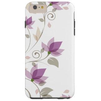 Abstrato na moda do roxo floral capas iPhone 6 plus tough