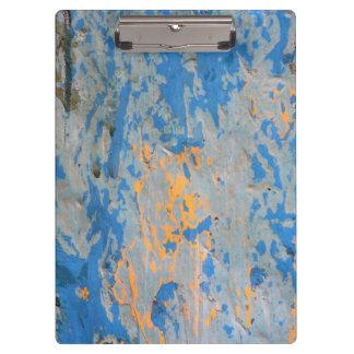 Abstrato na prancheta azul
