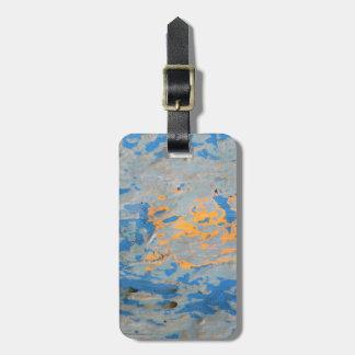 Abstrato no azul etiqueta de bagagem