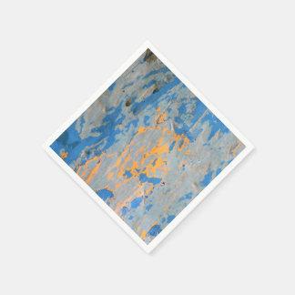 Abstrato no guardanapo de papel azul