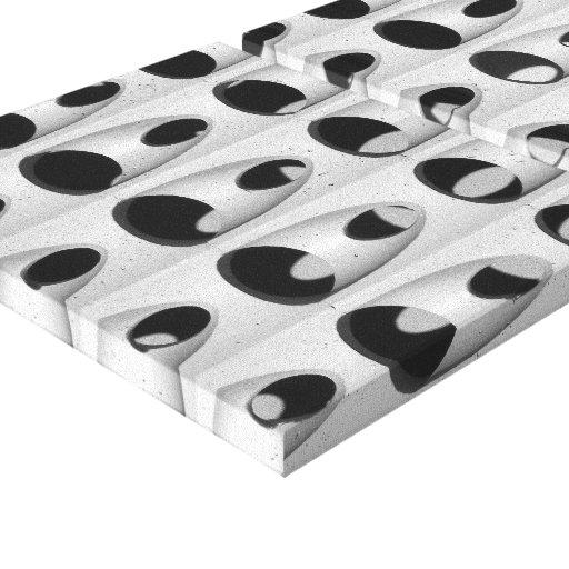 Abstrato preto do branco impressão de canvas esticada