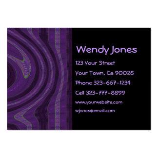 abstrato preto e do roxo cartão de visita grande