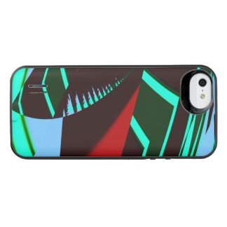 Abstrato retro capa carregador para iPhone SE/5/5s