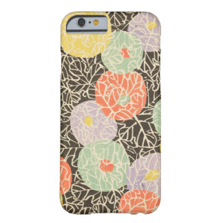 Abstrato retro do japonês floral capa barely there para iPhone 6
