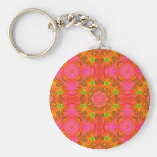 Abstrato retro floral colorido sem emenda chaveiro
