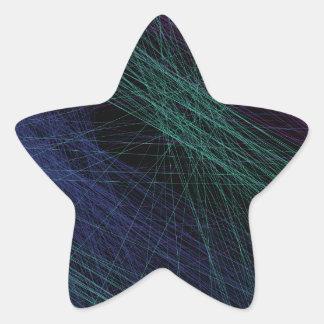 Abstrato roxo da mostra do laser do verde azul adesito estrela