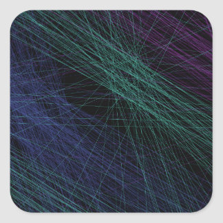 Abstrato roxo da mostra do laser do verde azul adesivo quadrado