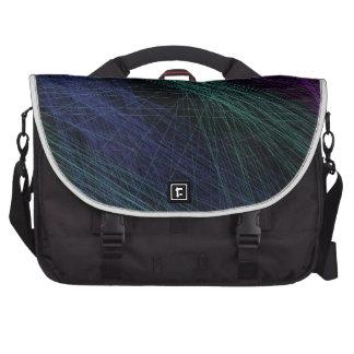 Abstrato roxo da mostra do laser do verde azul mochila para notebook