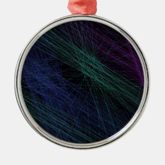 Abstrato roxo da mostra do laser do verde azul ornamento