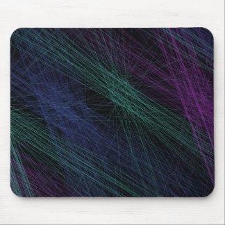 Abstrato roxo da mostra do laser do verde azul mousepad