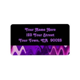 abstrato roxo do preto etiqueta de endereço