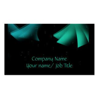 Abstrato verde/azul com cartões de visitas dos