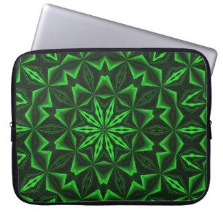 Abstrato verde bolsas e capas de notebook