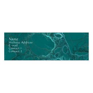 Abstrato verde cartão de visita skinny