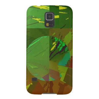 Abstrato verde de Amazon Capinha Galaxy S5