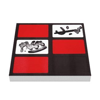 Abstrato vermelho 3Red do preto do impressão das
