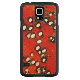Abstrato vermelho da pena de Tragopan Capa De Bordo Para Galaxy S5