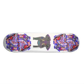 Abstratos e elefante Tattooed Shape De Skate 20cm