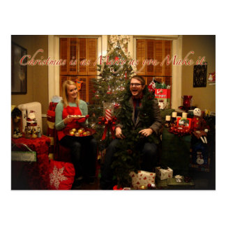 Absurda Feliz Natal Cartão Postal