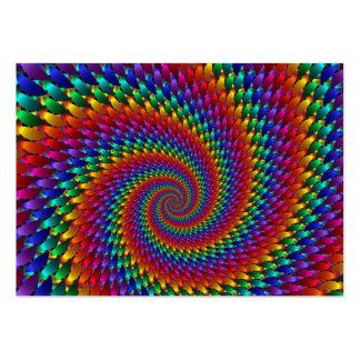 abtrato do imagem espiral cartão de visita grande
