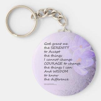 Açafrão da oração da serenidade chaveiro