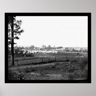 Acampamento militar perto de Culpeper, VA 1863 Poster