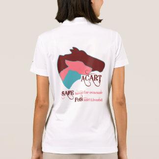 ACART - Logotipos empoeirados seguro cor-de-rosa Polo