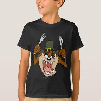 Acção de graças do peregrino de TAZ™ na cor Camisetas