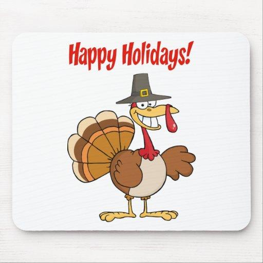 Acção de graças feliz engraçada Turquia Mousepads