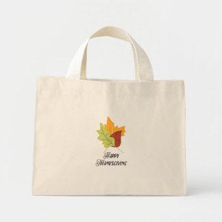Acção de graças feliz - sacola minúscula das bolsa tote mini