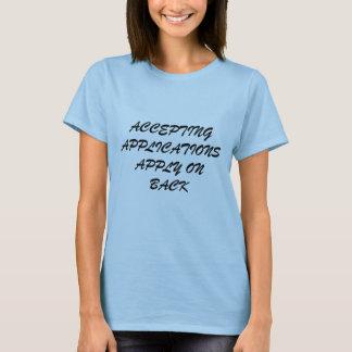 ACEITANDO APLICAÇÕES APLIQUE SOBRE a PARTE Camiseta