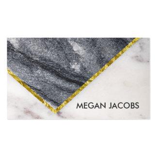 Acento escuro e claro bonito do mármore e do ouro cartão de visita