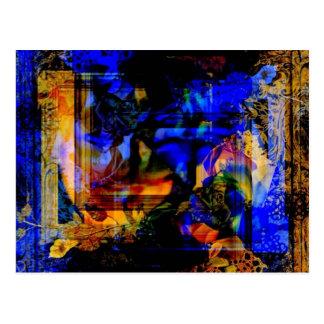 Acentos do cobalto cartão postal